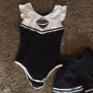 Little for big two piece skirt and onesie set